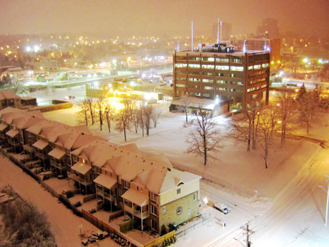 Winter view from my apartment