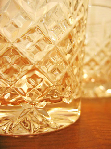 Thumbnail: Crystal lowball glasses