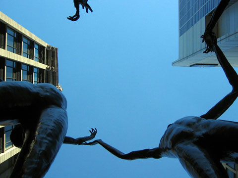 Thumbnail: Statues looking up