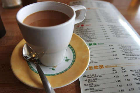 Thumbnail: Hong Kong milk tea with menu