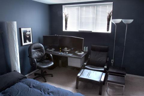 My room, desk view
