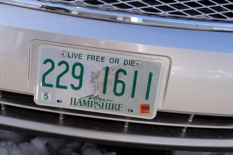 Thumbnail live free or die license plate