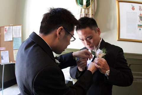 Thumbnail: Jason helps Pat with his boutonnière