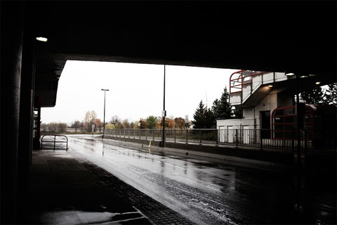 Thumbnail: Walkley station on a rainy day