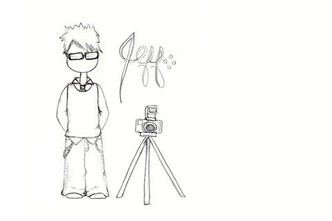 Julie's drawing of me