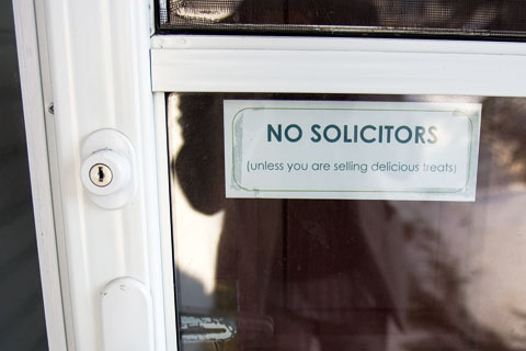 No solicitors sign