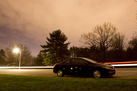Honda Civic Coupe at night