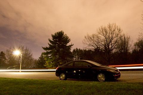 Honda Civic Coupe at night