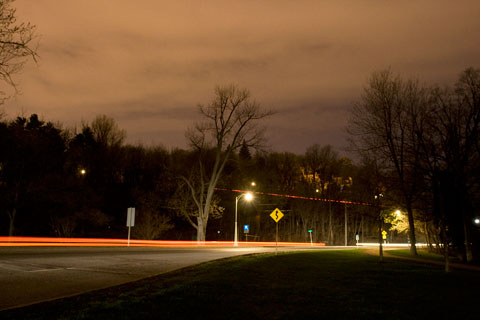 Ottawa Rockcliffe parkway at night