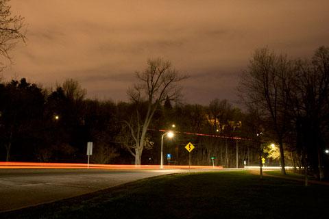 Ottawa Rockcliffe parkway at night