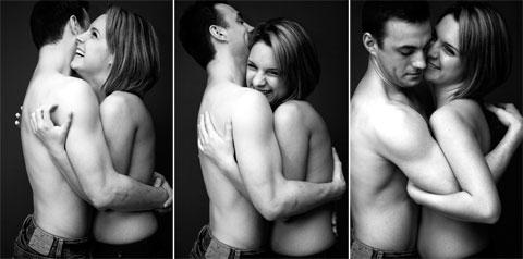 Julie and Blake hugging series