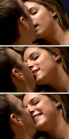 Julie and Blake kissing series