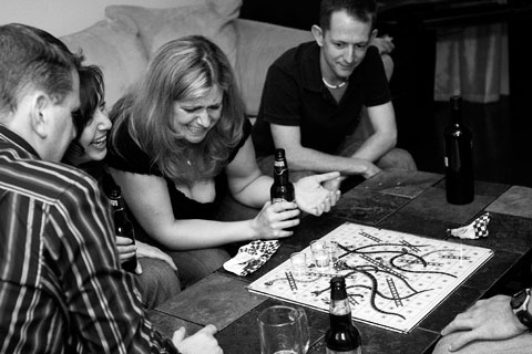 Playing shots and ladders
