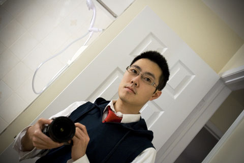Me in hoodie and tie