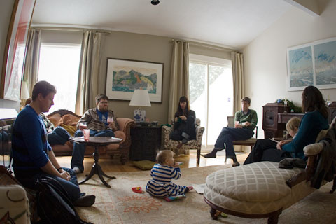 Gathering in the living room
