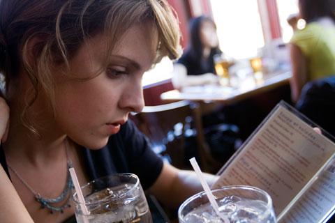 Ordering menu