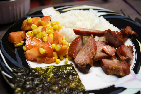 Bbq pork dinner