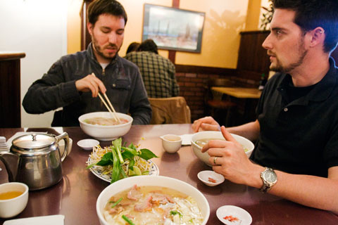 Pho with Aaron and Trolley