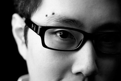Horizontal eyebrow piercing 1