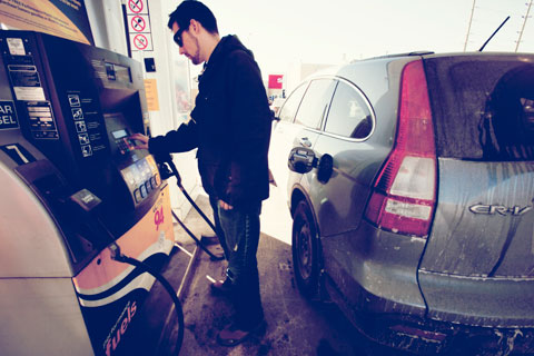 Thumbnail: Aaron pumps gas