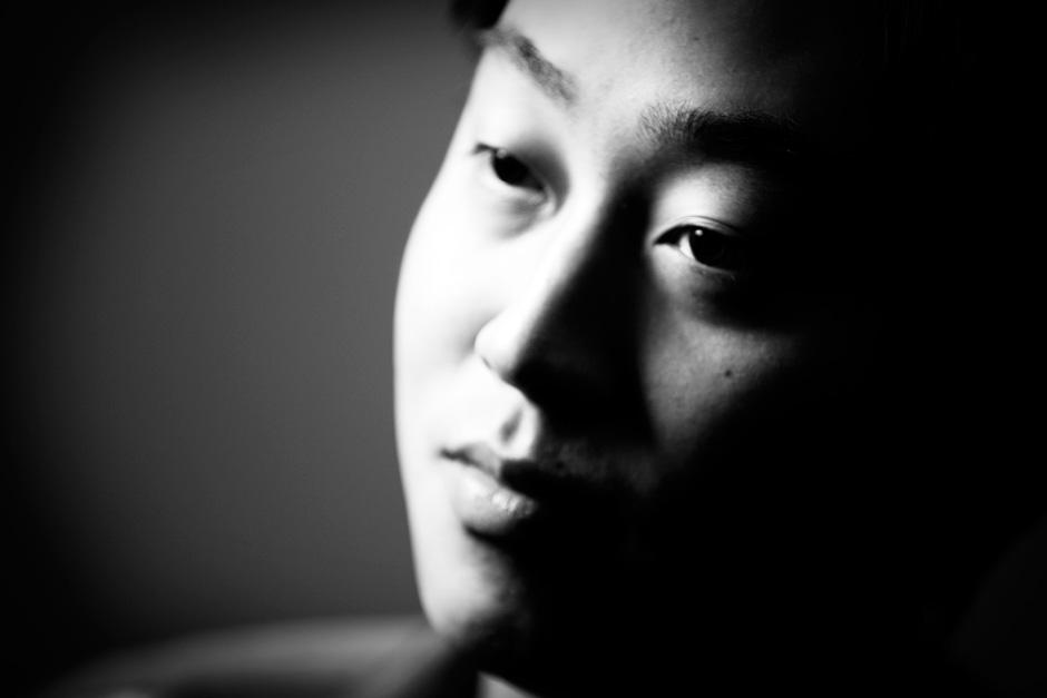 Darren in black and white