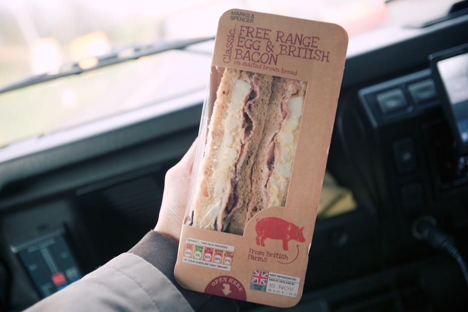 M&S egg sandwich
