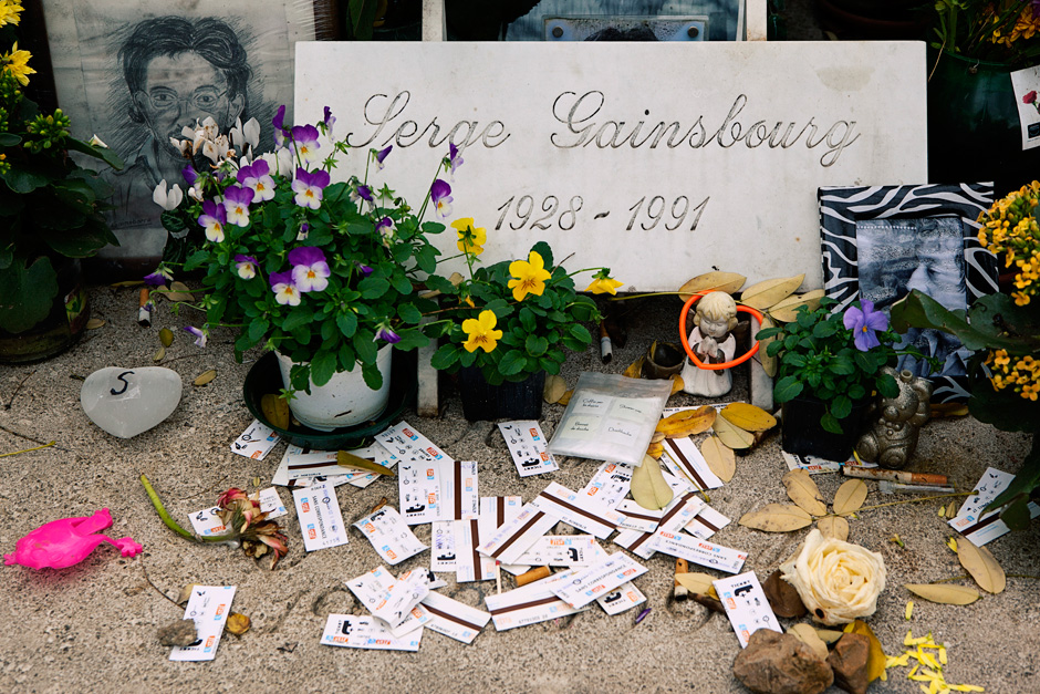 Serge Gainsbourg's grave - details 1