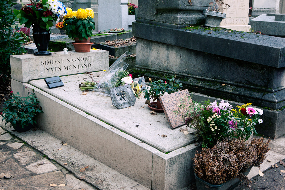Yves Montand's grave