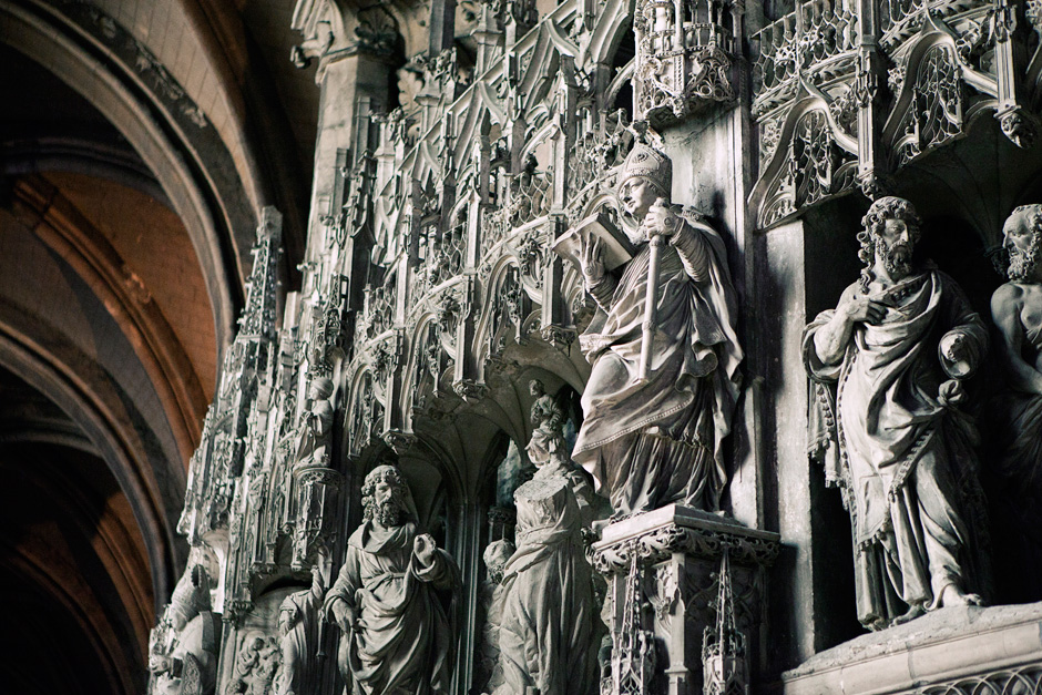 Chartres Cathedral - choir screen detail