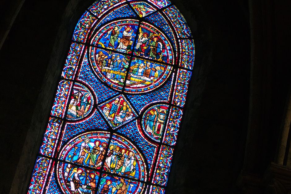 Chartres Cathedral - stained glass detail