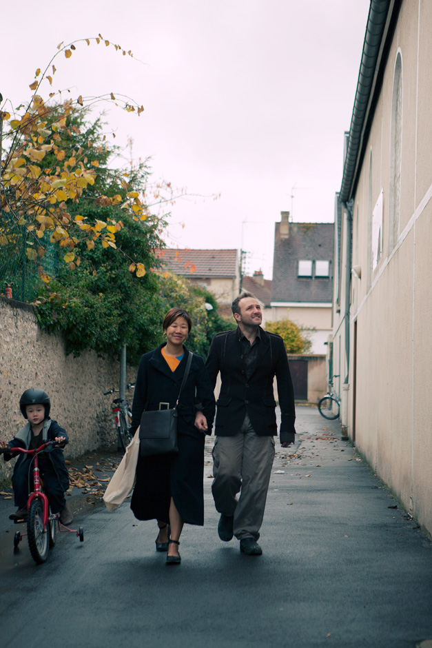 Frederic and Misun walking