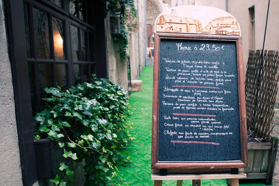 La Vieille Maison menu