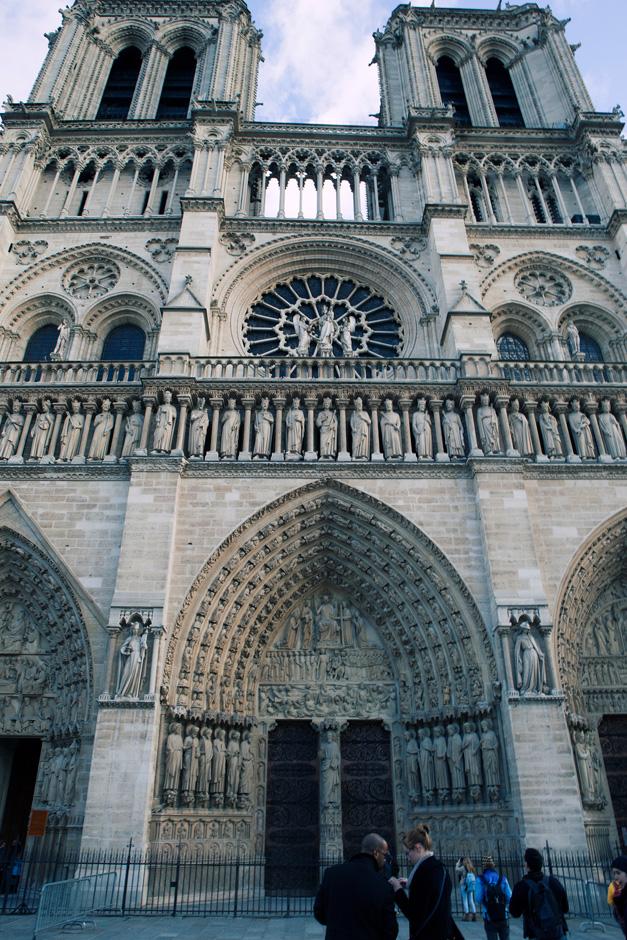 Notre Dame de Paris, front