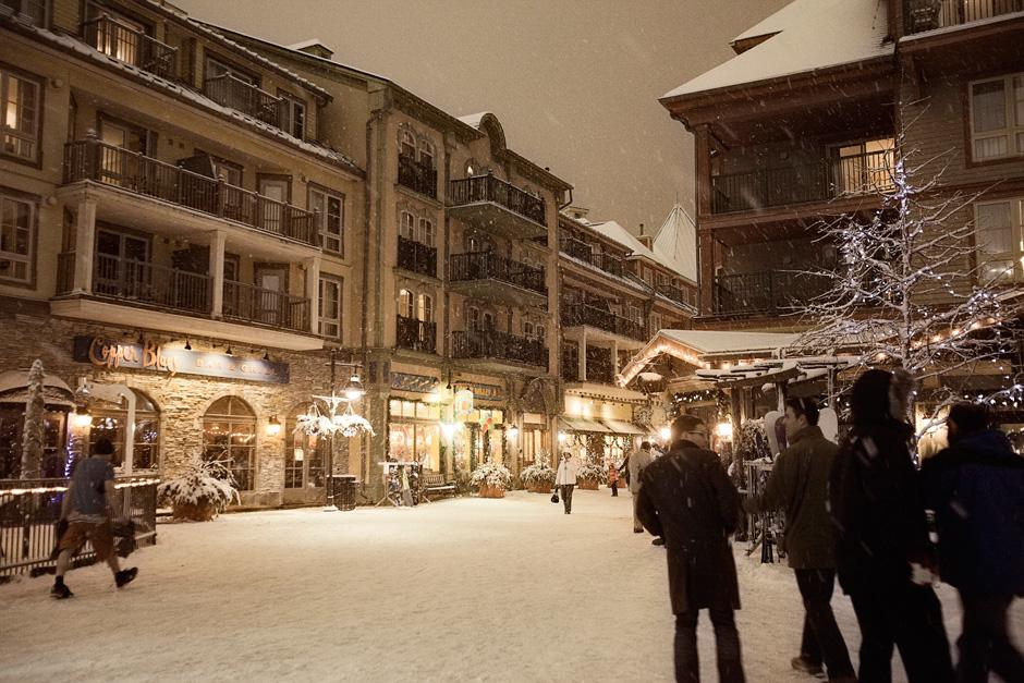 Blue Mountain village at night