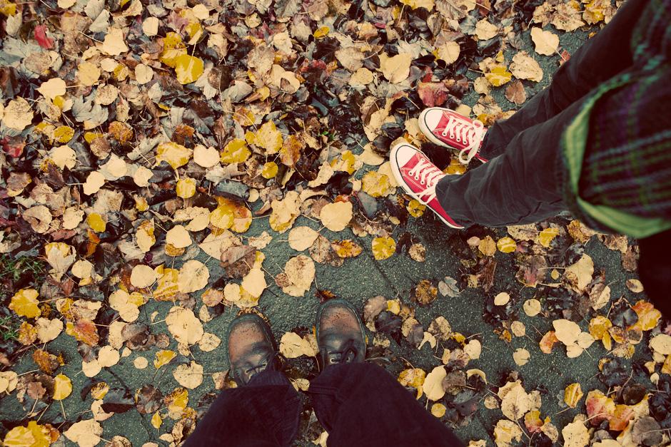 feet in leaves