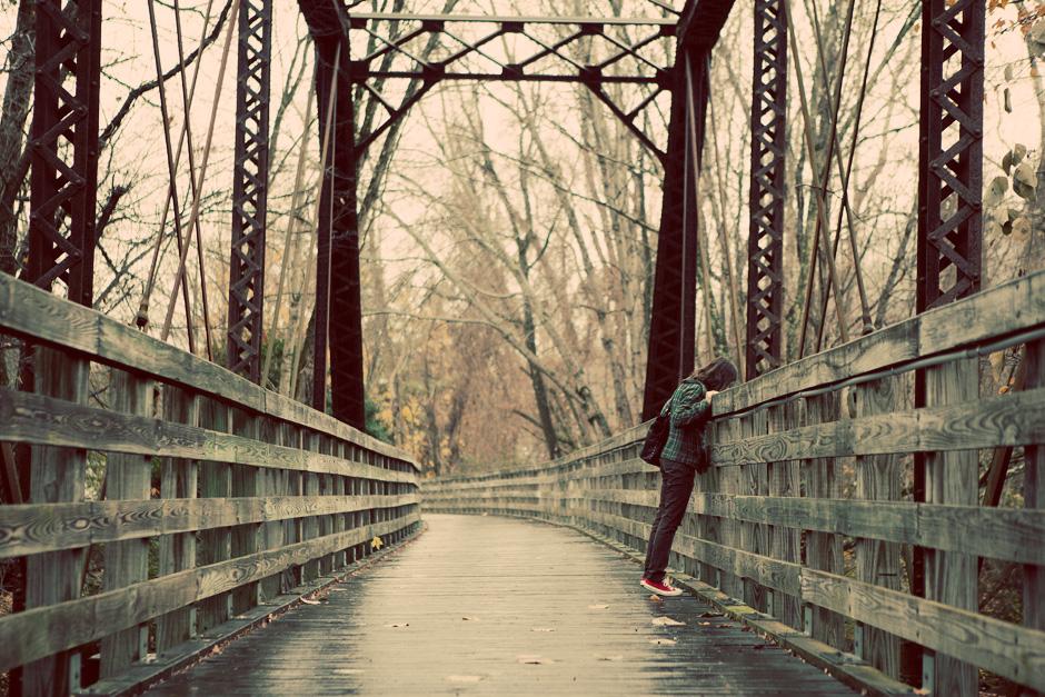 looking over a bridge
