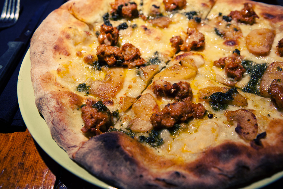 Wild Boar pizza at Tennessy Willems