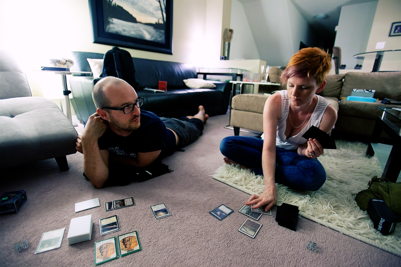 playing Magic: The Gathering