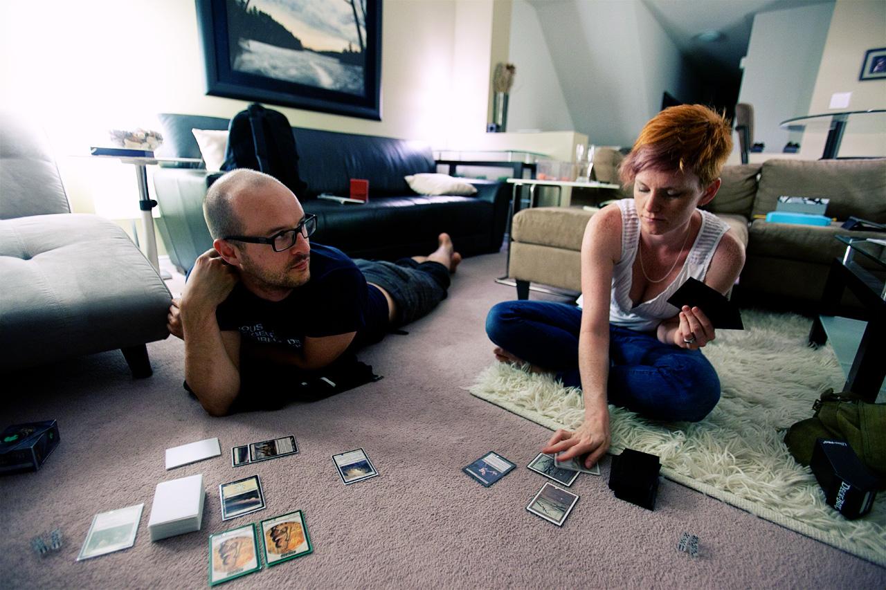 playing Magic: The Gathering