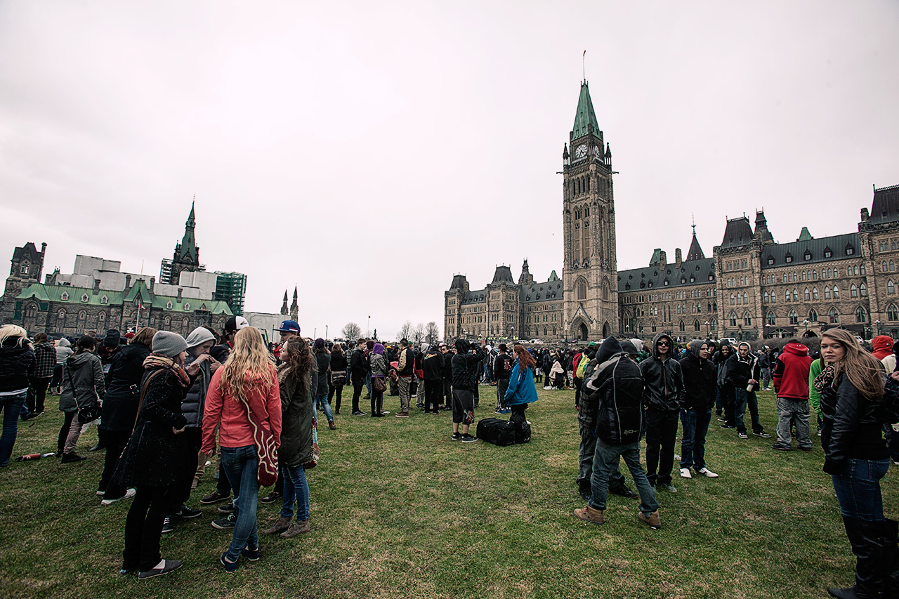 420 protest on Parliament Hill