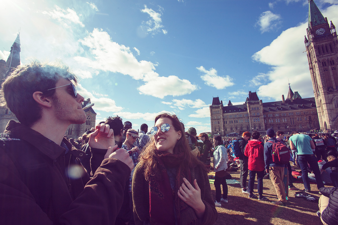 4/20 protest on Parliament Hill