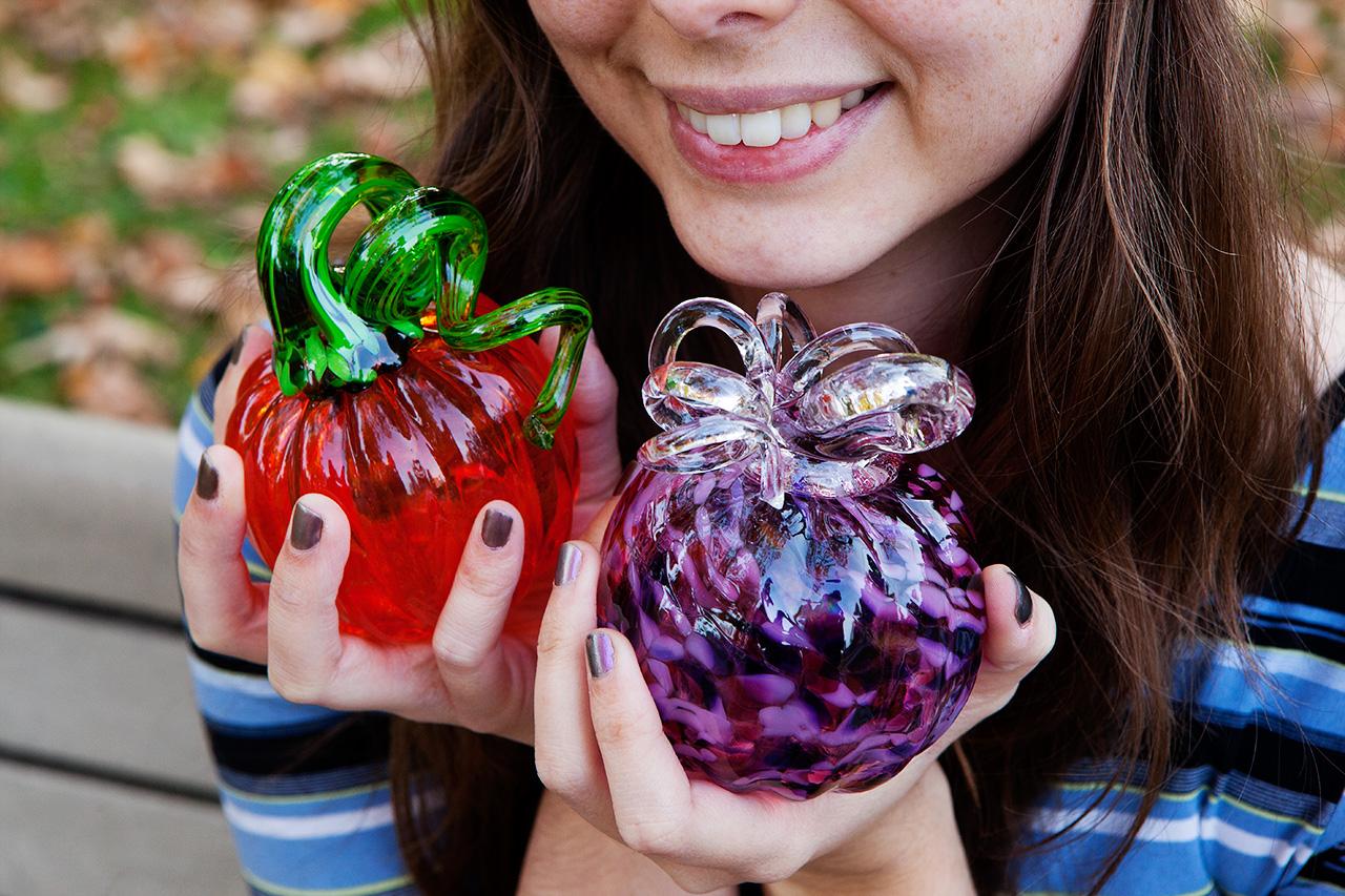 glass-blown pumpkins